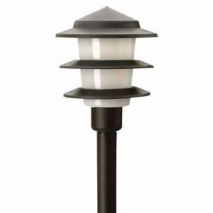 Moonrays low voltage watt black outdoor led tier path