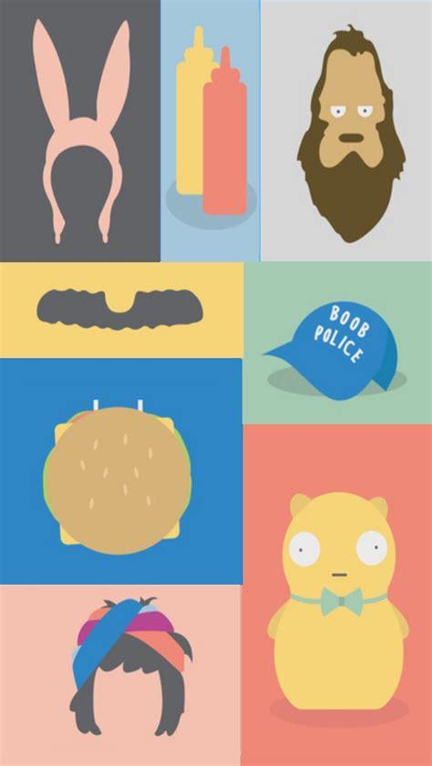 bobs burgers tv series illustrations iphone  wallpaper