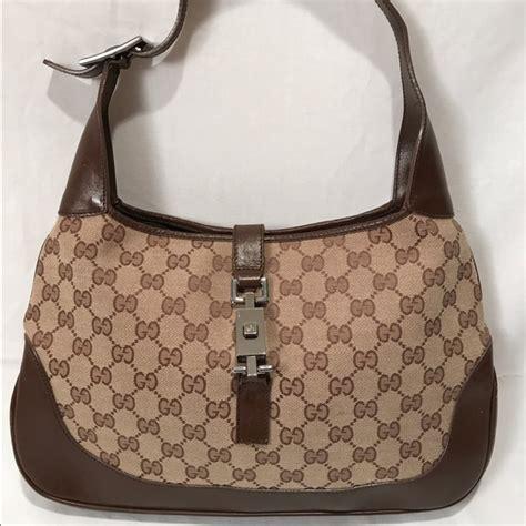 gucci bags vintage monogram jackie  purse handbag