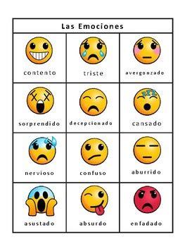 Las Emociones Emojis Bingo -Emotions Vocabulary in Spanish ...