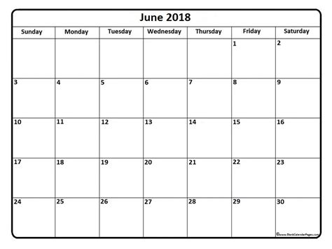 calendar template june 2018 june 2018 calendar 51 calendar templates of 2018 calendars