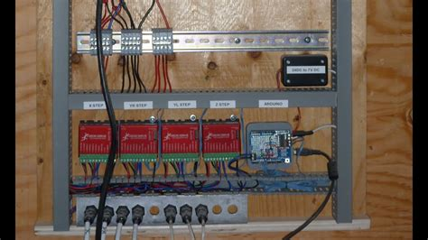 cnc project   control panel wiring youtube