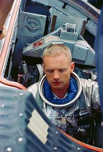 Astronaut Neil Armstrong, the first man on the Moon in his ...