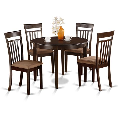 small round dining table and chairs small round 5 piece kitchen table and 4 dining chairs ebay