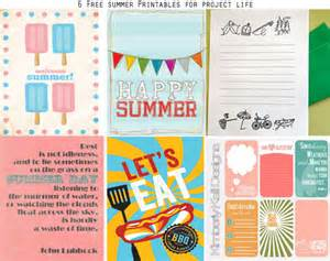 Free Printable Summer Project Life