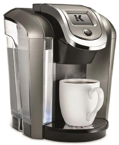 You can use an 8″ travel mug. Keurig K575 Single Serve Coffee Maker Review - BrownsCoffee.com