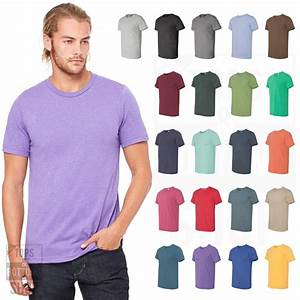 Bella Canvas Color Chart 3001 Bella Canvas Unisex Jersey Crew T Shirt Premium Fit