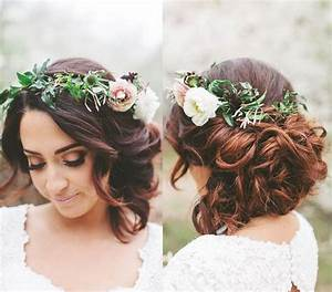 Wedding Hairstyle For Short Hair With Flowers Fade Haircut
