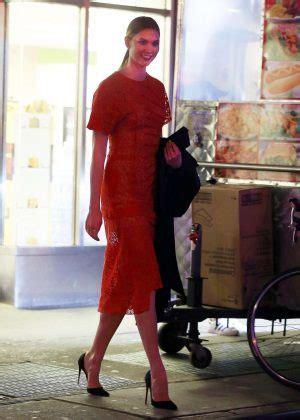 Karlie Kloss Red Dress Gotceleb
