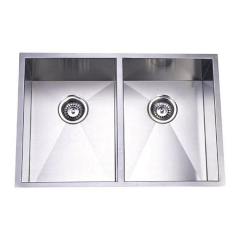29 Inch Stainless Steel Undermount 50/50 Double Bowl