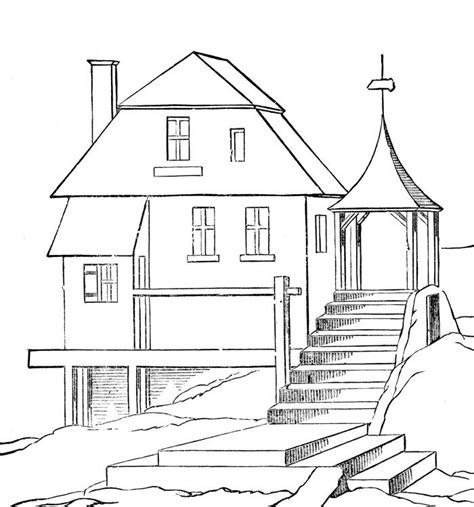 cartoon house coloring pages az coloring pages