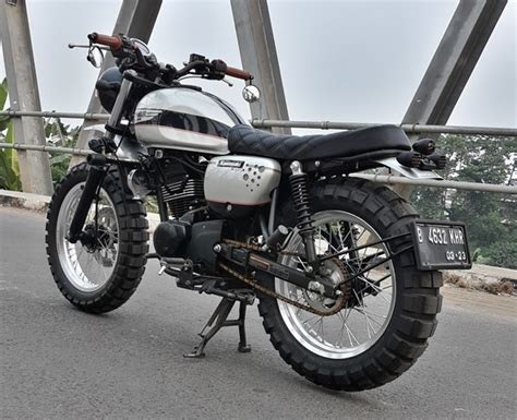 Kawasaki W175 Modified by Kawasaki W175 Se Scrambler Reviewmotors Co