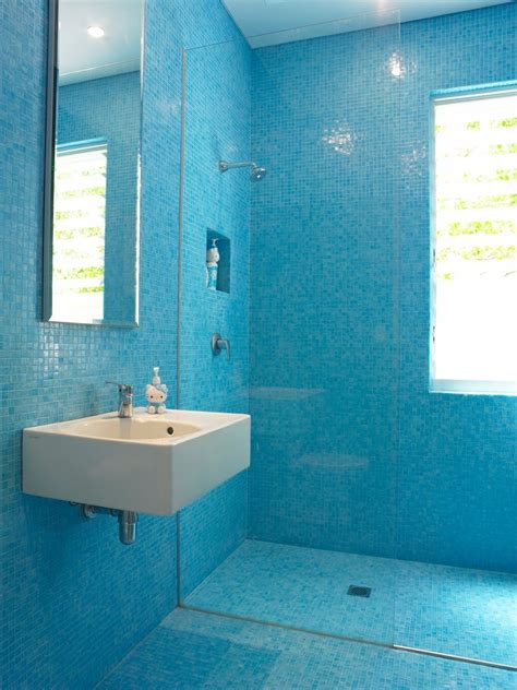 Blue Mosaic Tiles Bathroom by Blue Mosaic Tile Bathroom Traditional With Blue Blue And