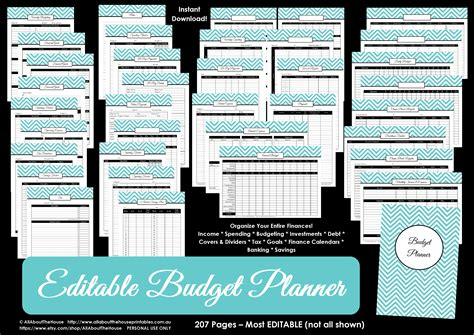 monthly bill organizer notebook budget printable allaboutthehouse printables