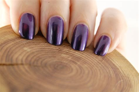 Trind Caring Color Nail Polish In Purple Shimmer And