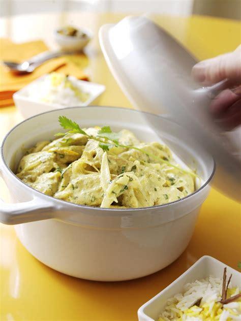 cuisine poulet curry vert recette curry vert de poulet en cocotte cuisine madame