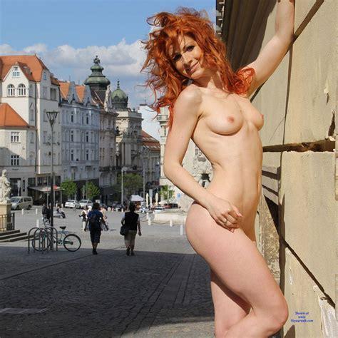 Redhead Vienna Naked In Public Street June