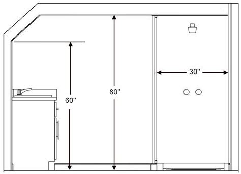shower height standard bathroom and guidelines with measurements
