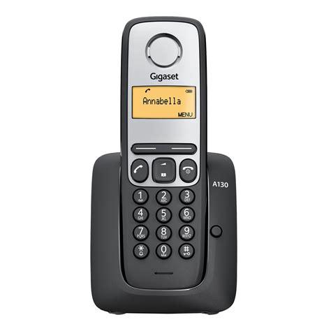 gigaset a130 noir 4250366836089 achat vente t 233 l 233 phone sans fil sur ldlc
