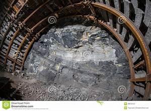 End Of Corridor In Underground Mine. Stock Image - Image ...