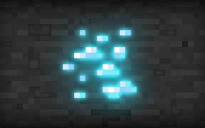 Minecraft Diamond Background Block