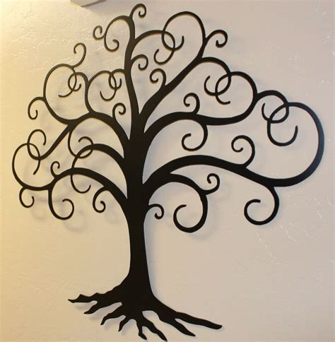 black metal wall decor black swirled tree of 24 quot metal wall decor
