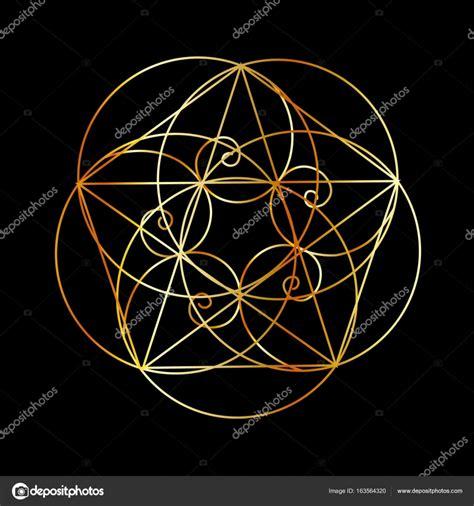 fibonacci spirale der heiligen geometrie stockvektor