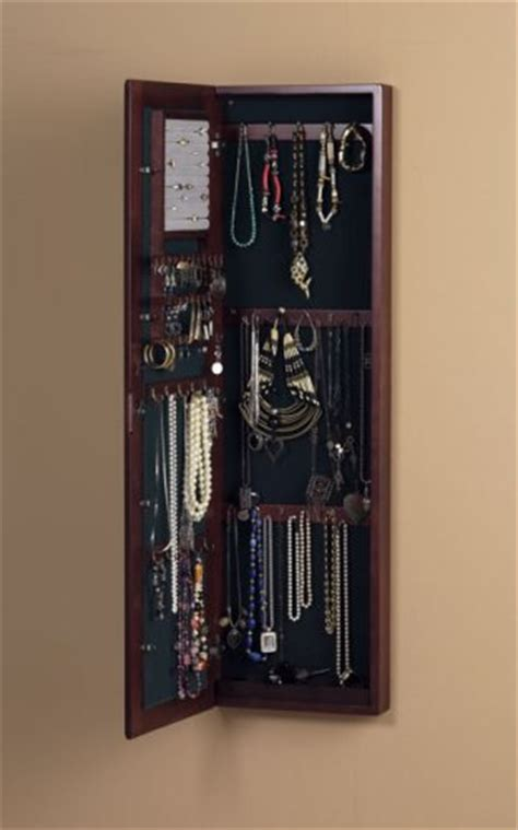 jewelry cabinet wall mount jewelry storage for small spaces fits in your tiny house