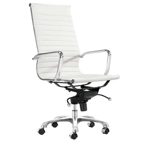 white office chair with arms high back white leather executive swivel office chair with