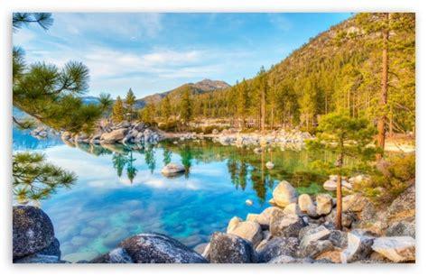 tahoe lake transparent water ultra hd desktop background