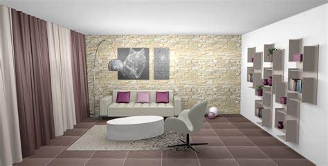 canapé cuir prune décoration d 39 un séjour cosy à franconville 95
