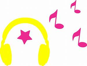 Headphones With Musical Notes Clip Art at Clker.com ...