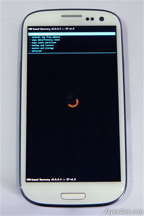 samsung galaxy s3 clockworkmod recovery mode jayceooi