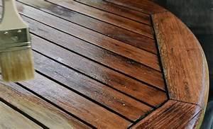 Table Bois Exotique : d griser une table de jardin en bois exotique et la prot ger ~ Farleysfitness.com Idées de Décoration