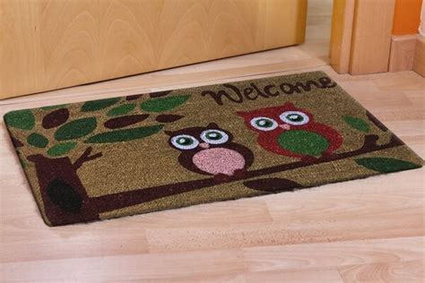 Owl Doormat by Owl Doormats Golly Gee Gardening