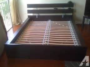ikea hopen bed frame full double size with slats and support beam for sale in kingsdale
