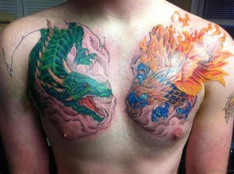 80 Modish Dragon Tattoos On Chest