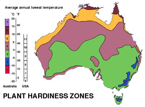Plant Hardiness Zone Map For Australia