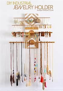 DIY Geometric Industrial Wall Jewelry Organizer • Made in