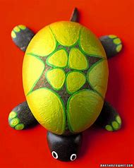 Craft Rock Animals Turtle