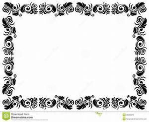 Cadre Noir Et Blanc : cadre noir et blanc de blanc avec l 39 l ment floral images libres de droits image 38364219 ~ Teatrodelosmanantiales.com Idées de Décoration