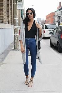 High Waisted Jeans Style Looks 2018 | FashionGum.com