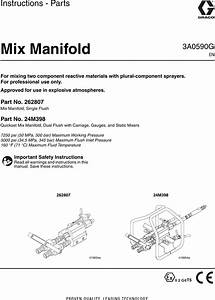 Graco 3a0590g Mix Manifold Users Manual Manifold