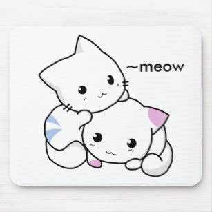 cute cat drawing mouse pads zazzle