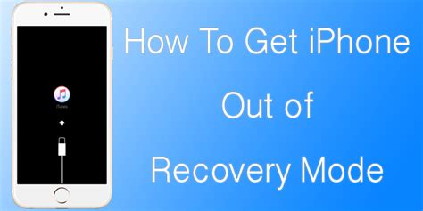 how to get on iphone how to get iphone out of recovery mode without restore