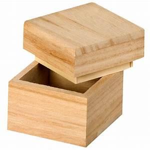 Boite à Thé Bois : boite en bois carr 5 cm boite en bois d corer creavea ~ Teatrodelosmanantiales.com Idées de Décoration