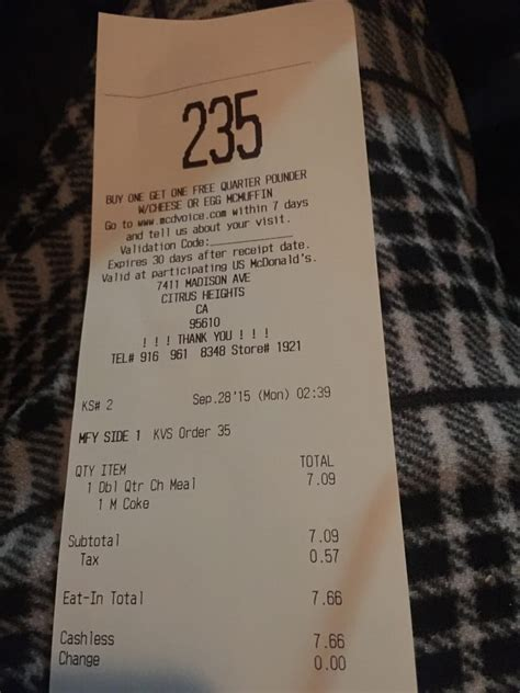 here s my receipt for proof yelp
