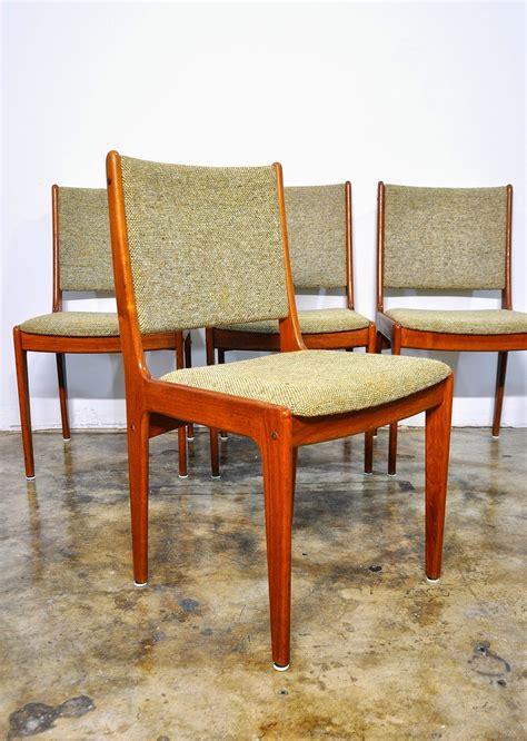 select modern set of 4 modern teak dining chairs