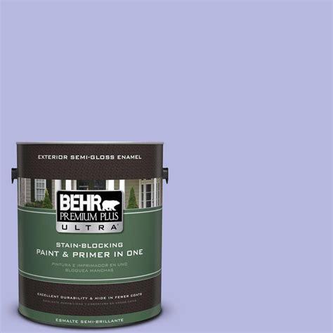 behr premium plus ultra 1 gal p550 3 lavender cloud gloss enamel exterior paint 585001