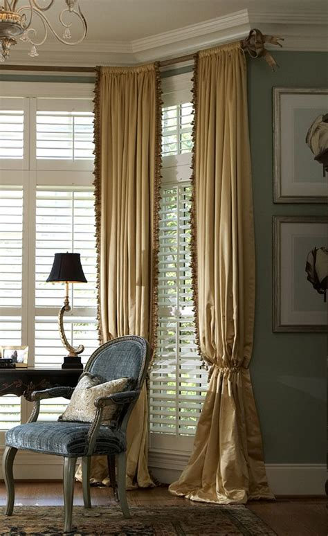 beautiful drapes plantation shutters what a view